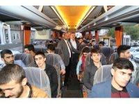 Çayeli Belediyesi ilçede Kuran Kursu'nda okuyan öğrencileri Çanakkale'ye gönderdi