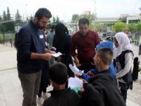Suriyeliler Türkçe seviye belirleme sınavına girdi