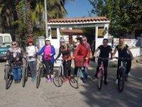 Köyceğizli kadınlar sağlıklı yaşam için bisiklet kullanıyor