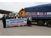 Gölbaşı Belediyesi'nden Afrin'e yardım