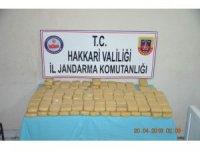 Şemdinli'de çuval içinde 46 kilo 953 gram eroin ele geçirildi