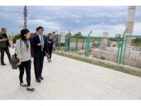 Japon Büyükelçi Miyajima Mezitli'yi gezdi