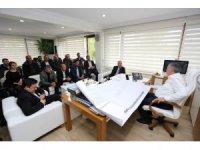 Başkan Altuğ ve Süs bitkiciliği yetkilileri Başkan Toçoğlu'nu ziyaret etti