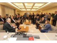 Şahin, Ulaştırma Bakanı Arslan'ı ağırladı