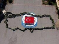 Nevşehir'de öğrenciler 23 Nisan'ı Türkiye haritası koreografisiyle kutladı