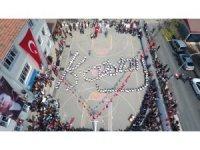 Sinop'ta öğrencilerden Atatürk imzası koreografisi
