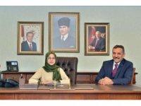 Vali Kaymak makamını Zeynep Naz Uzun'a devretti
