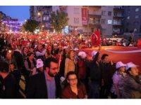 Hataylılar 23 Nisanı fener alayı ile kutladı