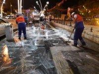 Tokat'ta temiz şehir, temiz kaldırım çalışması