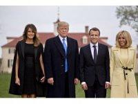 Trump, Macron'u üst düzeyde ağırlıyor