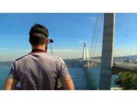 """Yavuz Sultan Selim Köprüsü """"Yarış Drone""""leri için hız pisti oldu"""