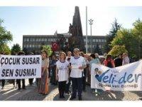 Uşak'ta çocuğa şiddet ve istismar protestosu