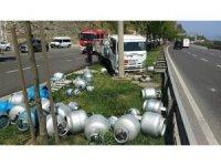 Samsun'da tüp yüklü kamyonet kamyonla çarpıştı: 2 yaralı