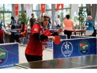 ASP personeli masa tenisinde stres attı