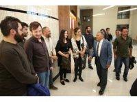İnşaat mühendisleri Başkan Büyükkılıç'ı ziyaret etti