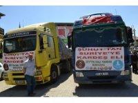 Şuhut'tan Afrin'e 4 tır yardım