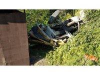 Beton mikseri şarampole uçtu: 1 yaralı