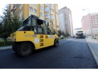 Talas Mevlana Mahallesi'nde asfalt çalışmaları