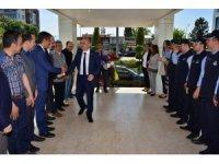 Saraoğlu, daire amirleri ve belediye personeli ile vedalaştı