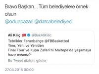 Final Four'da Fenerbahçe Doğuş'a ilk destek Başkan Kılıç'tan geldi