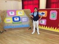 Otizmli ilkokul öğrencinden resim sergisi