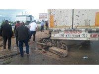 Kontrolden çıkan otomobil motosikletliyi biçti: 1 ölü
