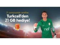 'Şampiyon' paketi sahiplerine 21 GB internet