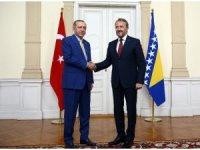 Cumhurbaşkanı Erdoğan, İzetbegoviç'le görüştü