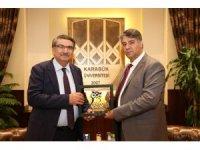 Prof. Dr. Mehmet Şişman KBÜ'yü ziyaret etti
