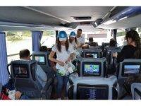 Sürücü ve yolculara Dünya Süt Günü sürprizi