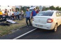 Samsun'da otomobil motosiklete çarptı: 1 ölü