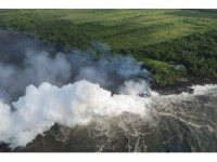 Patlayan Kilauea Yanardağı asit bulutları meydana getirdi