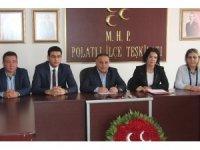 MHP Ankara 1. Bölge milletvekili adayları Polatlı da tanıtıldı