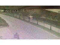 Kütahya'daki otobüs kazası güvenlik kamerasında