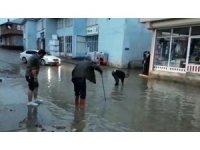 Karlıova'da sağanak yağış etkili oldu