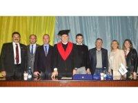 """Dr. Mustafa Aydın'a Odessa Ulusal Politeknik Üniversitesi'nden """"Fahri Doktora """"verildi"""