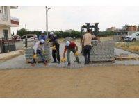 Turgutlu'da mahalleler parke taşıyla yenilendi