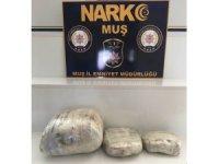 Muş'ta 8 kilo 638 gram toz esrar ele geçirildi