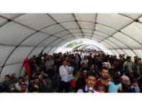 Suriyelilerin ülkelerine gidişlerinde yoğunluk yaşanıyor