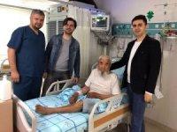 Aksaray'da felçli hastanın tıkalı şahdamarına stent takıldı