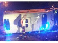 Çorum'da hasta taşıyan ambulans kaza yaptı: 6 yaralı