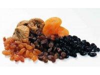 Şekerin alternatifi kuru üzüm, kuru incir, kuru kayısı