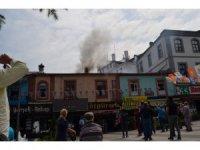 Trabzon'da şehir merkezinde yangın paniği