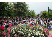 Binlerce Bağcılarlı kestane ağaçlarının altında iftar yaptı