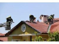 Lüks villada çıkan yangın korkuttu