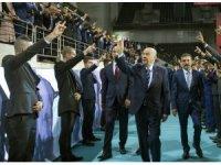 MHP Genel Başkanı Devlet Bahçeli partisinin seçim beyannamesini açıklıyor.