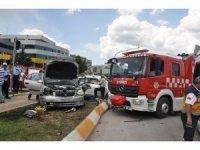 Tokat'ta kavşakta ciple otomobil çarpıştı: 1 ölü, 5 yaralı