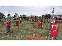 Afrin Şehitleri için Trabzon'da hatıra ormanı oluşturuldu