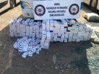 Adana'da 2 bin 530 paket kaçak sigara ele geçirildi
