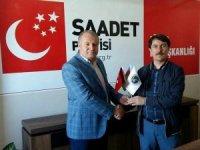 Başkan Gülbey, Saadet Partisi Başkanı Aslan'ı ziyaret etti